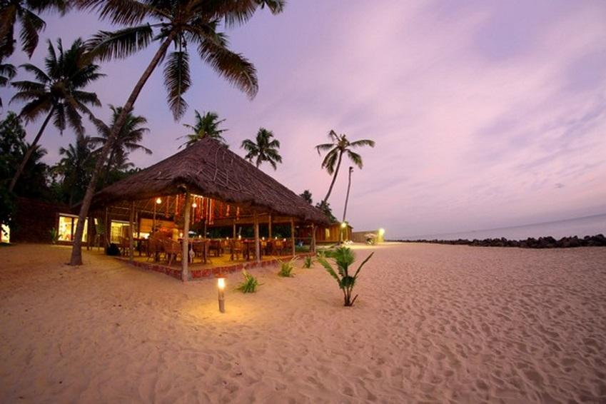 Das Restaurant im Erandia Marari Ayurveda Beach Resort.