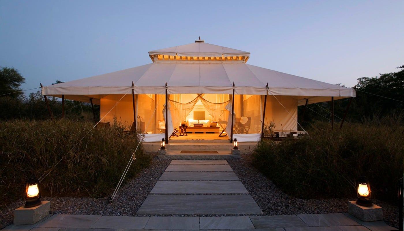 Ein Zelt beim Aman-i-Khas Camp.