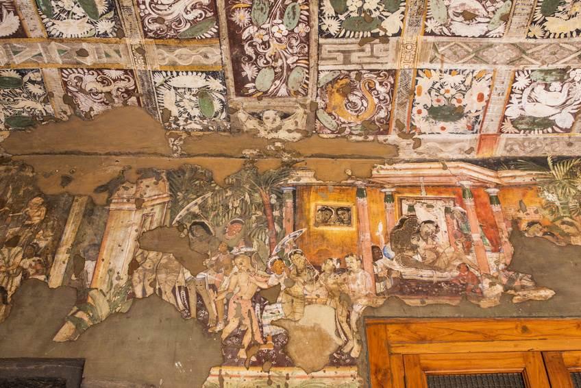Wandmalerei in den Ajanta Höhlen - Ajanta & Ellora Höhlen