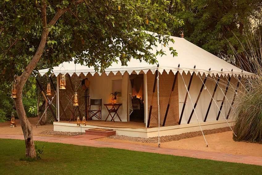 Ein Zelt beim Sujan Sher Bagh.