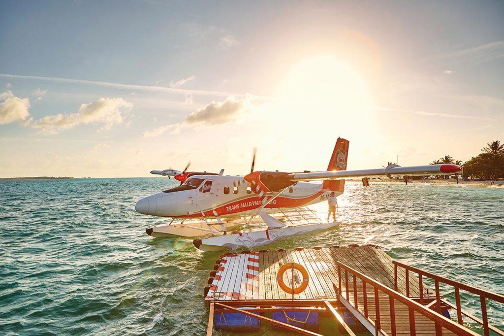 Ein Wasserflugzeug der Trans Maldivian Airways